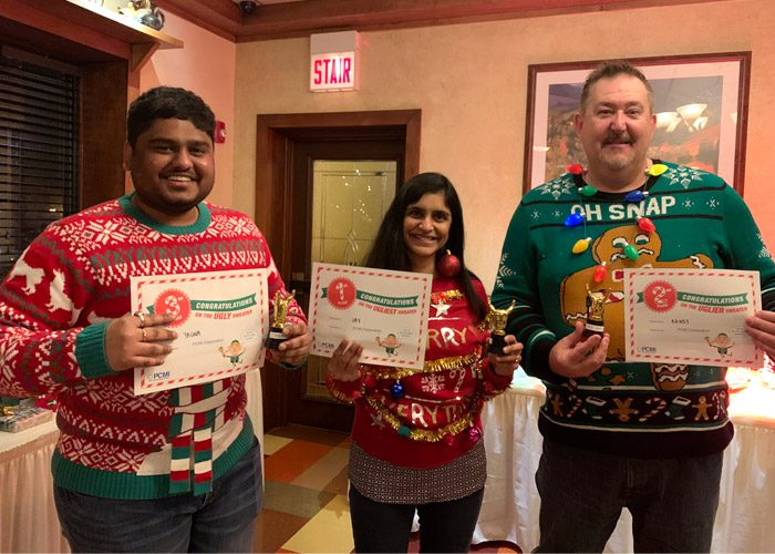 ugly sweater holiday party winners