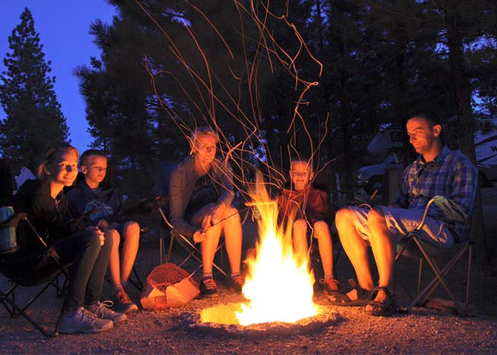 greg with his family - bonfire