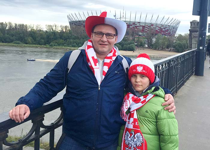 Marcin with his daughter